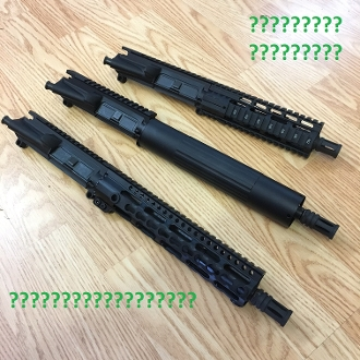 Grab Bag / Clearance Ar15 PISTOL Upper w/ Free Float Handguard
