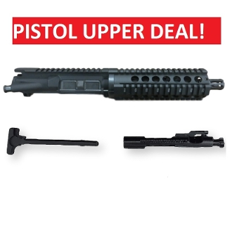 "7.5"" Blem 5.56/223 Ar15 Pistol Upper, BCG and Charging Handle"