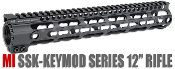 MI SSK-KeyMod Series One Piece Free Float Handguard, 12-inch
