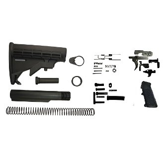 Ar15 Lower Build Kit Includes Mil Spec 6 Position Stock & LPK