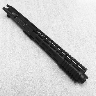 "10.5"" 300 BLK Ar15 Pistol Upper with 12"" Gen3 Rail & Flash Can"