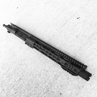 "10.5"" 300 BLK Ar15 Upper, Slanted Hybrid Mlok & Flash Can"
