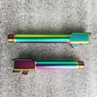 Oilslick Rainbow PVD Threaded Glock 19 G19 9mm Barrel 1/2-28