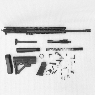 "*Rifle Build Kit* 18""  Ar15 5.56/.223 Wylde 1:8 mid w/ c12 Mlok"
