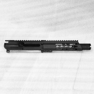 "6"" Ar9 SS 9mm Ar15 Upper with Flash Can & Slant Keymod"
