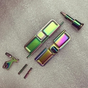 Oilslick Rainbow PVD Forward Assist
