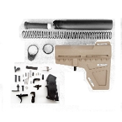 Ar15 Shockwave Lower Build FDE kit - Blade, Pistol Tube , LPK