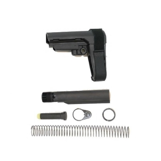 SBa3 Adjustable Pistol Brace with mil spec buffer tube kit