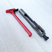 Graphite BCG & Red extended latch Charging Handle