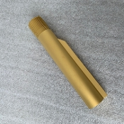 TiN Titanium Nitride Gold Ar15 Mil Spec Buffer Tube 6position
