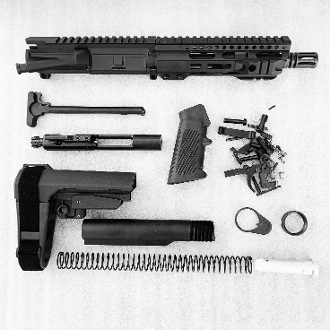 *Pistol Build Kit* 7.5 300 BLK Hybrid Mlok Ar15 Kit with SBA3