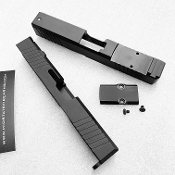 Glock 19 black aftermarket slide with RMR cut & cover plate