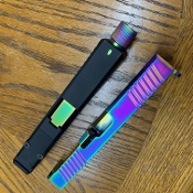 Glock 19 g19 Oilslick Chameleon Rainbow slide with RMR cut