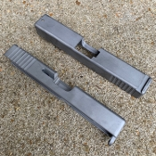 Glock 19 g19 standard oem style stainless slide with serrations