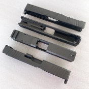 Tungsten Glock 19 G19 Slide, RMR cut, Front/Rear serrations