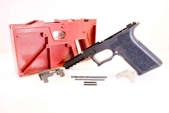 PF940c™ 80% compact glock Frame Kit with jig, g19 / 23 black