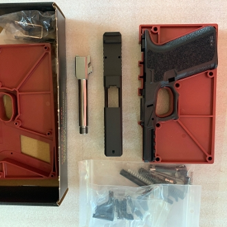 g19 pistol build kit, p80 pf940c frame, slide, barrel, and parts