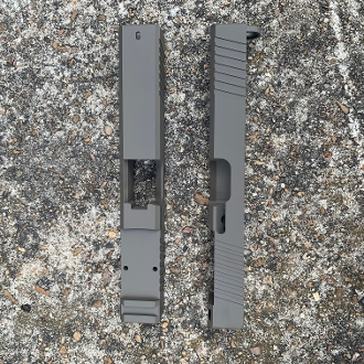 FDE Glock 17 G17 Slide, RMR cut, Front/Rear serrations gen3